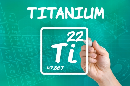 Symbol for the chemical element titanium photo