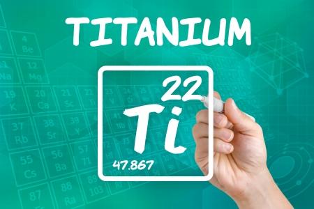 titanium: Symbol for the chemical element titanium