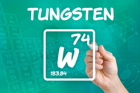 Symbol for the chemical element tungsten photo