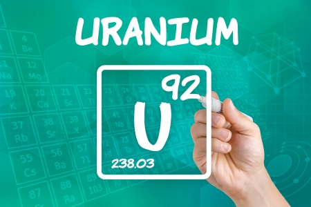 Symbol for the chemical element uranium photo