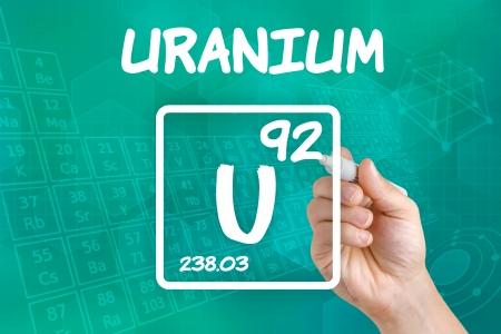 uranium: Symbol for the chemical element uranium