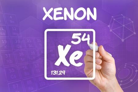 xenon: S�mbolo para el elemento xen�n qu�mica