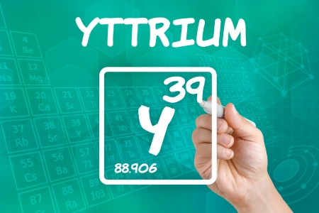 periodic table of the elements: Symbol for the chemical element yttrium