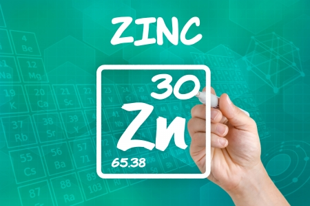 Symbol for the chemical element zinc Imagens - 21871796