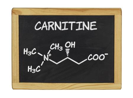 chemical formula of carnitine on a blackboard photo