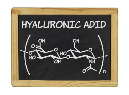 molecule symbol: chemical formula of hyaluronic acid