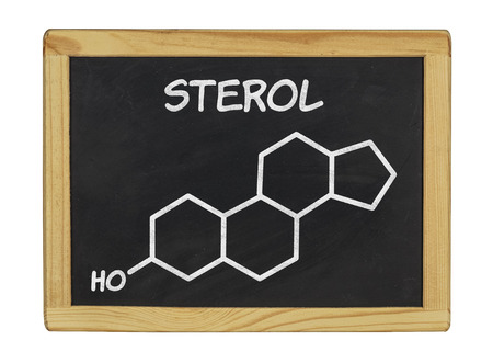 chemical formula of sterol on a blackboard photo