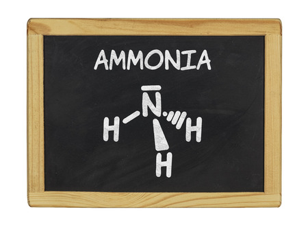 chemical formula of ammonia on a blackboard photo