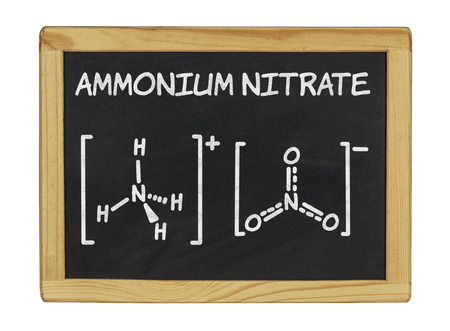 ammonium: chemical formula of ammonium nitrate  Stock Photo