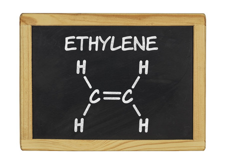 chemical formula of ethylene on a blackboard photo