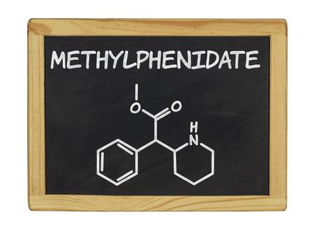 mph: chemical formula of methylphenidate Stock Photo