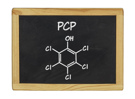 chemical formula of pcp on a blackboard photo