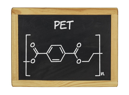 chemical formula of pet on a blackboard photo