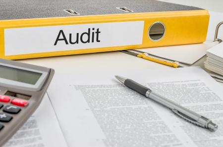 auditoría: Carpeta con la etiqueta de Auditoría