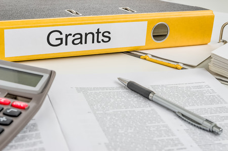 grants: Folder with the label Grants