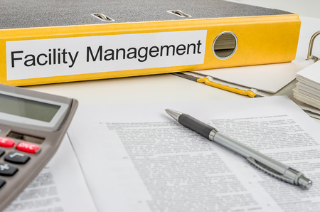 Folder with the label Facility Management photo