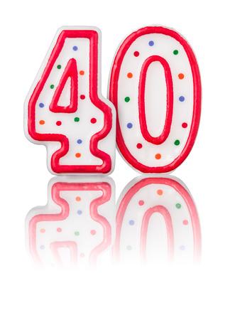 meses del a  ±o: Red número 40 con la reflexión