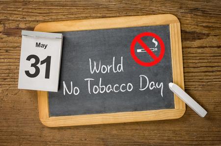 calendario: Día Mundial Sin Tabaco, 31 de mayo Foto de archivo