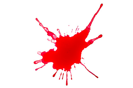 Blood splash on a white background photo