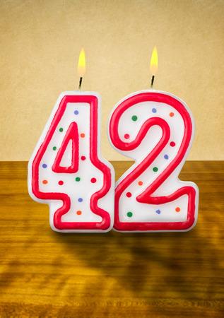 레코딩 생일 촛불 42 번호를