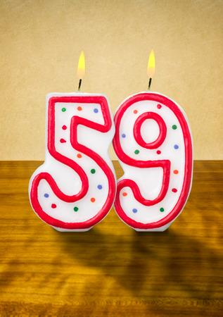 geburtstagskerzen: Brennende Kerzen Geburtstag Zahl 59