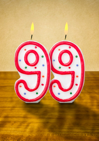 99: Burning birthday candles number 99