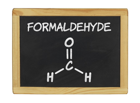 chemical formula of formaldehyde on a blackboard photo