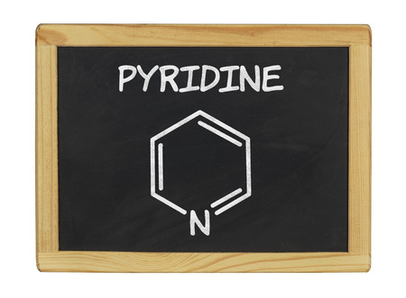 chemical formula of pyridine on a blackboard photo