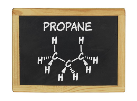 chemical formula of propane on a blackboard photo