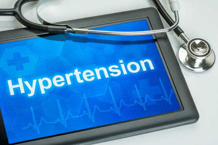 hypertension: Tablet with the diagnosis hypertension on the display