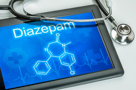 valium: Tablet with the chemical formula of diazepam