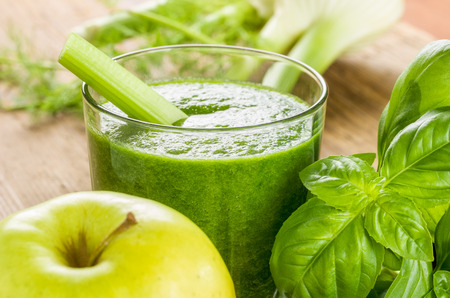Green Smoothie with fresh ingredients photo