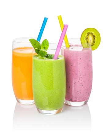 l�gumes verts: Smoothies de fruits et l�gumes Banque d'images