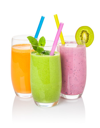 fruit shake: Smoothies from fruit and vegetables