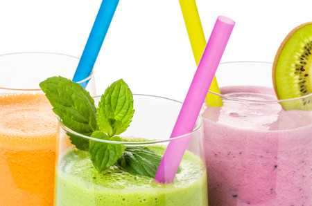 Smoothies from fruit and vegetables photo