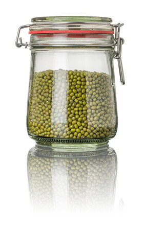 Mung beans in a jar photo