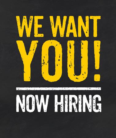 job opening: Pizarra con el texto Te queremos