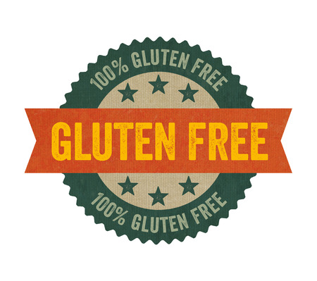 Label with the text Gluten free photo