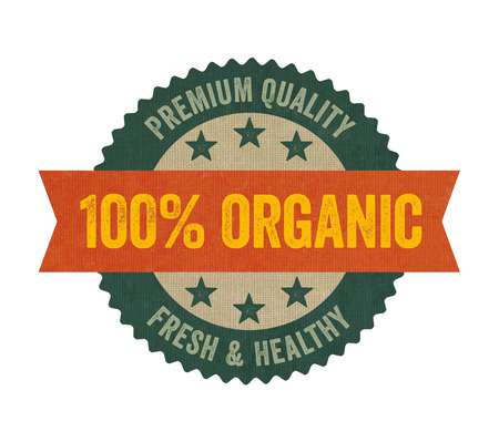 Label with the text Organic photo