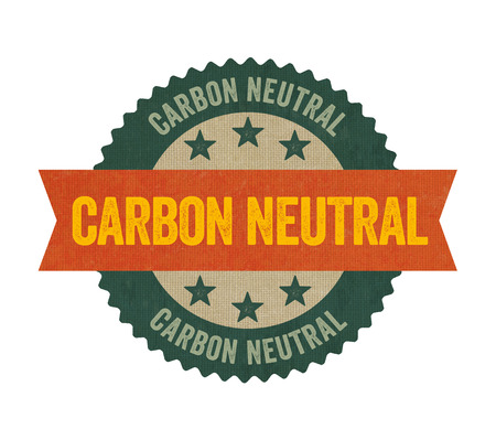 carbon neutral: Label with the text Carbon neutral