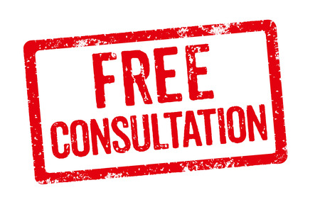 free sign: Red Stamp - Free Consultation