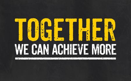 함께 우리는 더 많은 것을 성취 할 수 있습니다.