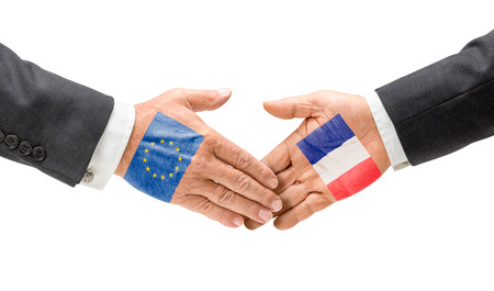 EU and France reach out their hands photo