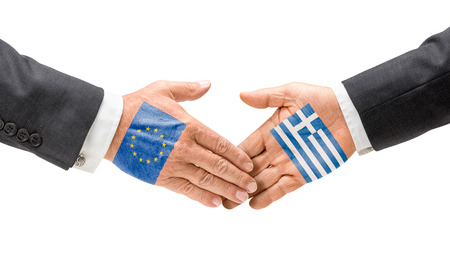 EU and Greece reach out their hands photo