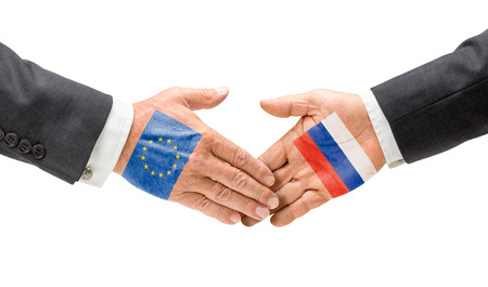 EU and Russia reach out their hands photo