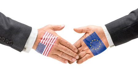 USA and EU reach out their hands photo