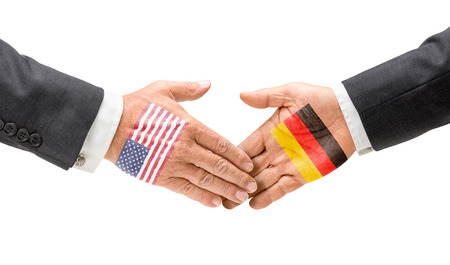 USA and Germany reach out their hands photo