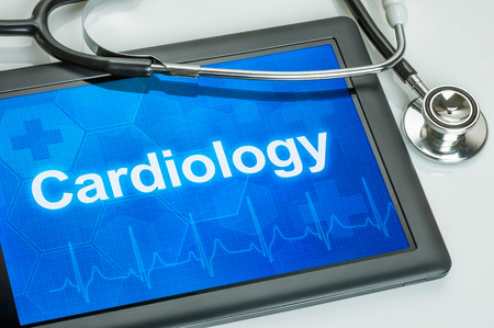 heart failure: Tablet with the medical specialty Cardiology on the display