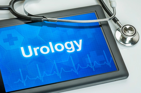Tablet with the medical specialty Urology on the display photo