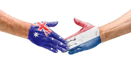 Handshake Australia and Netherlands photo